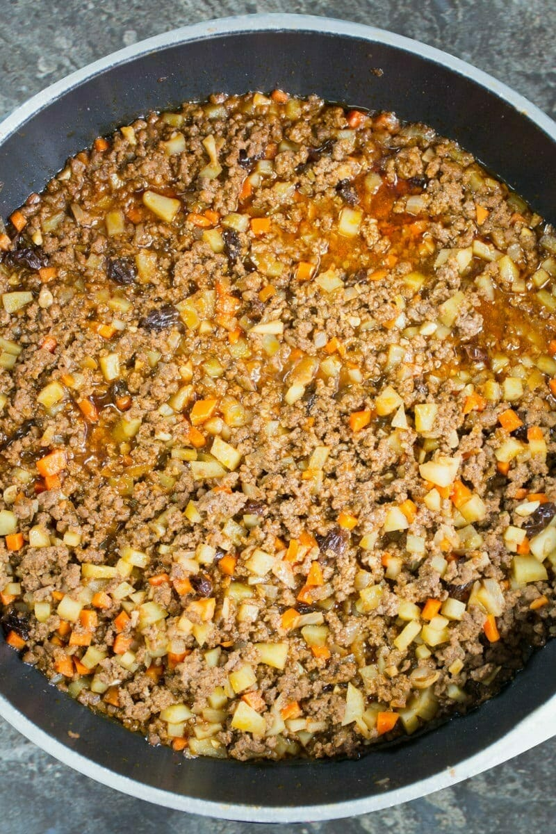 Picadillo Frying In Pan
