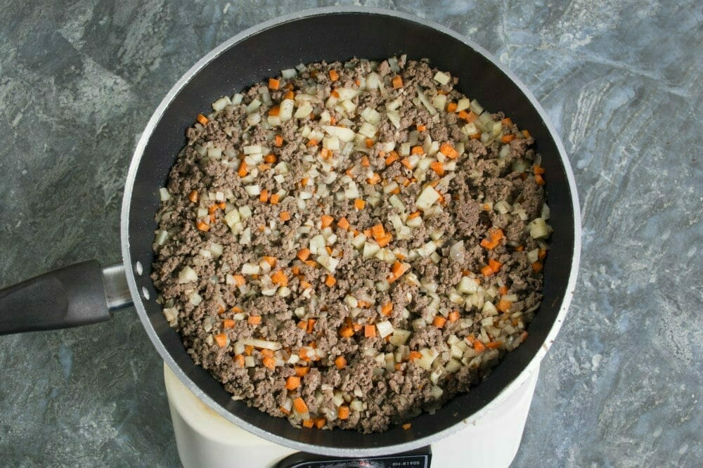 Step 3 Add Peeled Cubed Carrots And Potatoes