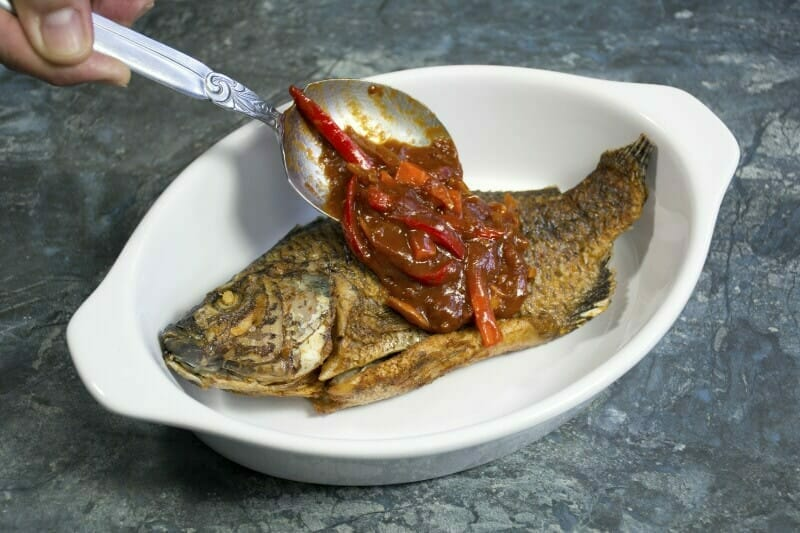 Step 8 Spoon The Sauce Over Tilapia To Serve