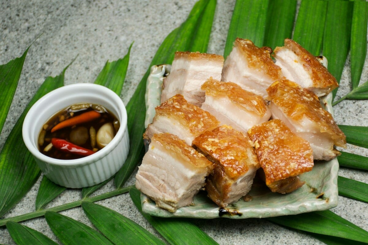 Crispy Pata With Dipping Sauce. One of the best Filipino dishes to try